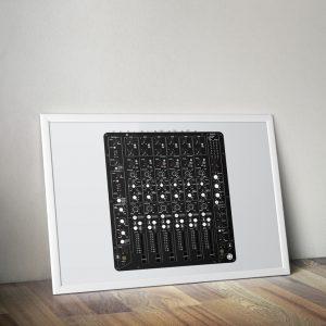 Model 1 mixer vector print portrait