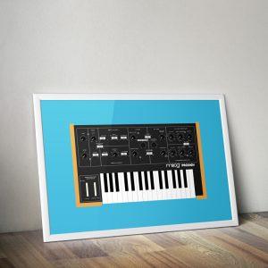 Moog Prodigy vector print