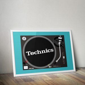 Technics mk2 1210 turntable vector print