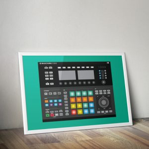 Native instruments Maschine Studio landscape vector print